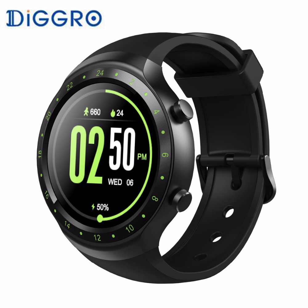 Diggro DI07 Smart Watch Phone with SIM Card Android 5.1 MTK6580 3G GPS WIFI Call Answer Smartwatch Connect for Android iPhone celiadwn smart watch android 5 1 smartwatch phone 3g mtk6580 512mb 4gb with 2 0 camera wifi gps sim card clock vs x200 dm98