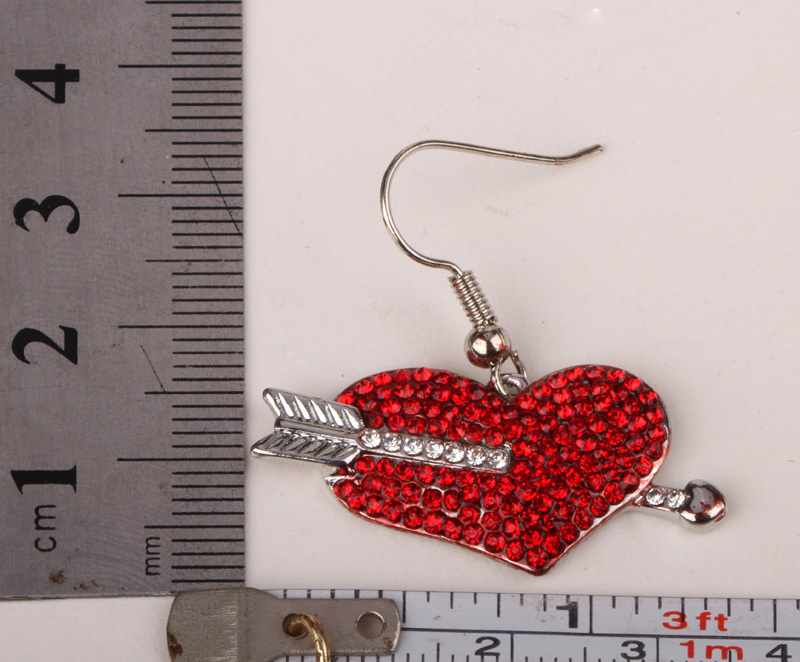 Arrow Heart Dangle Earrings Valentines Day Gifts For Her Austrian