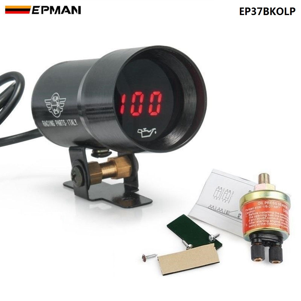 2 52mm 7 Color Led Car Oil Press Gauge Auto Pressure Meter With Ford 8n No 37mm Micro Digital Smoked Universal 4 6 8 Cylineder Engines Sensor