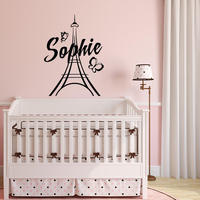 YOYOYU Art Home Decor Personalizzati Nomi Personalizzati Paris Wall Decal Vinyl Sticker Per Il Capretto Ragazze Camera Decorazione Torre Eiffel WW-490