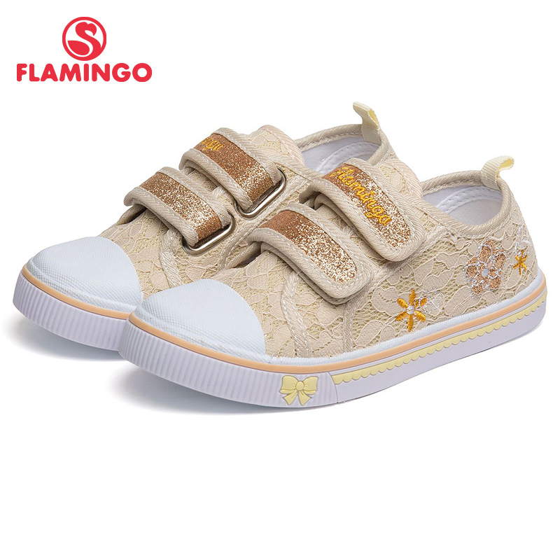 Фото - FLAMINGO Breathable Hook & Loop Orthotic Arch Support Outdoor Size 27-32 Casual Children Canvas Shoes for Girl 81K-FY-0679 women handbags 2018 new fashion summer chain ladies hand bags cartoon girl printed female crossbody pink casual tote k059