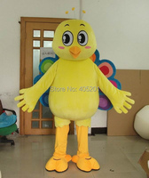 POLYFOAM high quality costume Peacock mascot costumes yellow bird peahen costumes