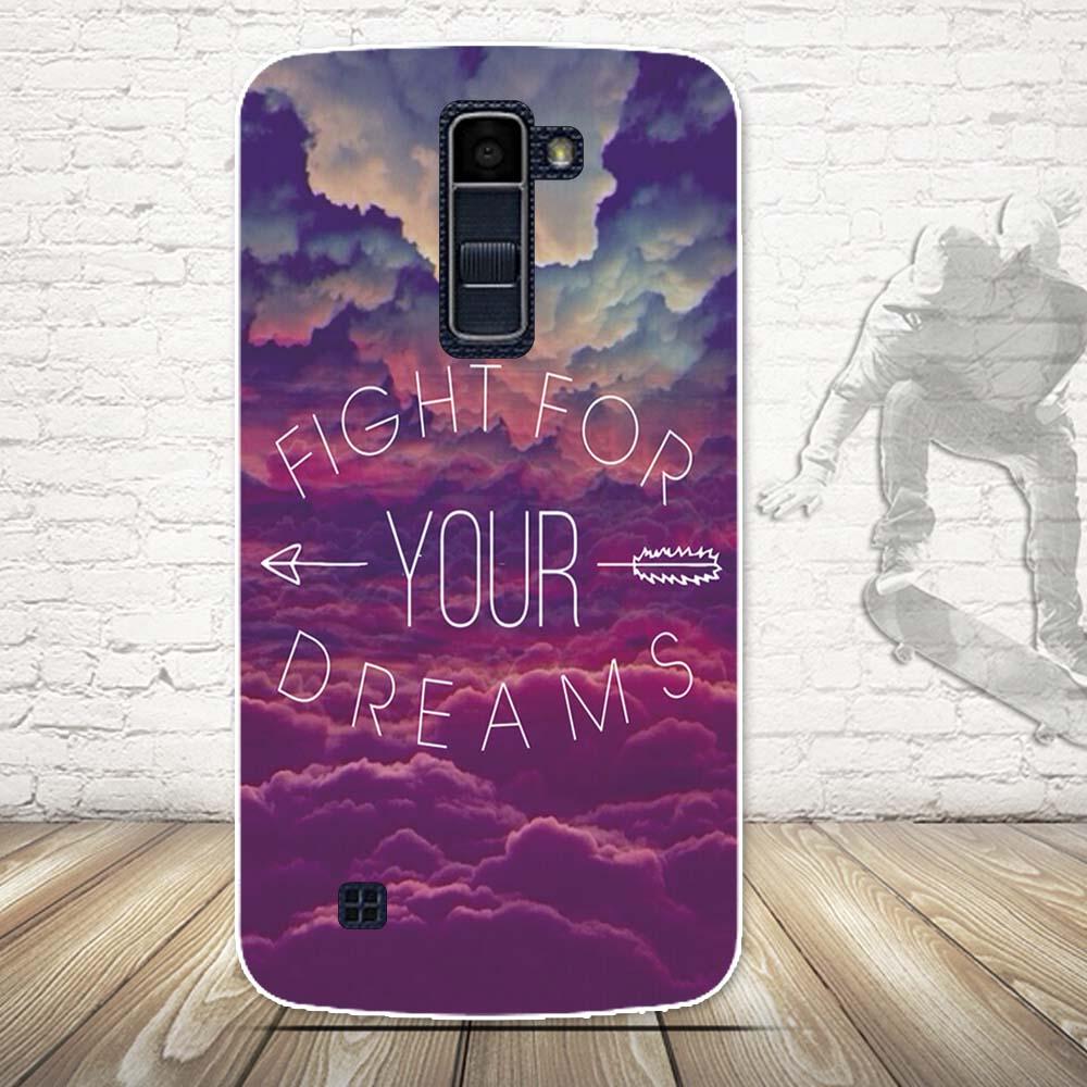 Luksusowe 3d farba miękka tpu powrót telefon pokrywa case do lg k10 lte k 10 m2 k410 k420n k430ds f670 podwójny case powrót silikon pokrywa torby 17