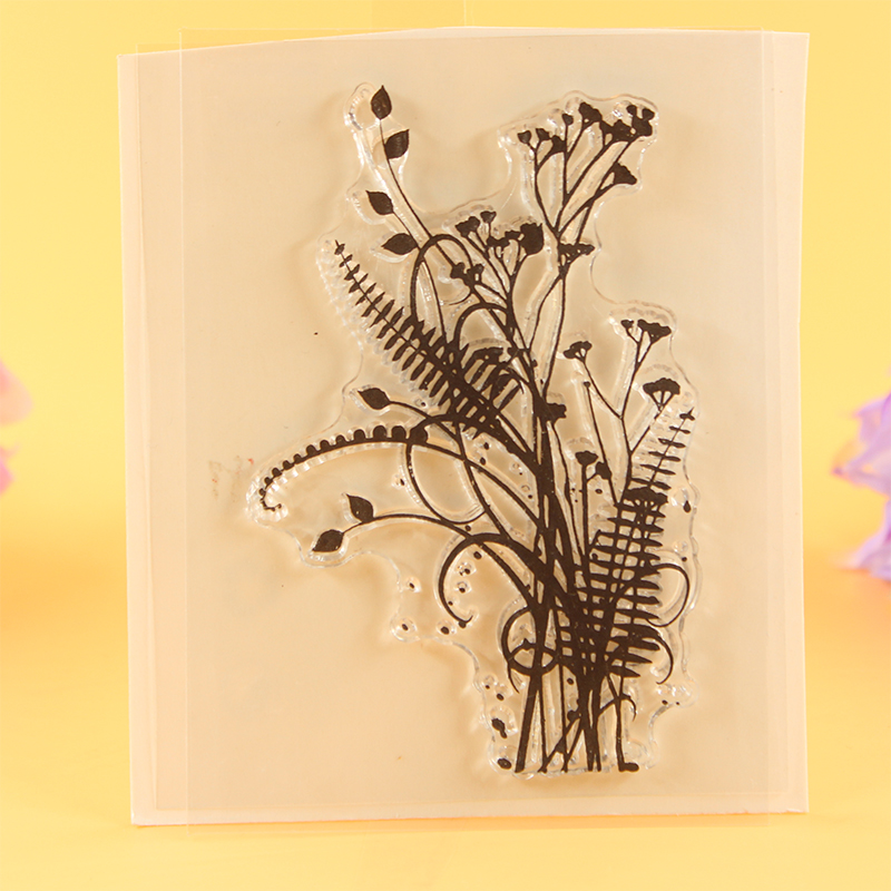 YLCS041 flowers silicone clear stamps for Scrapbooking DIY photo album cards decoration rubber stamp transparent stamp 7*9cm