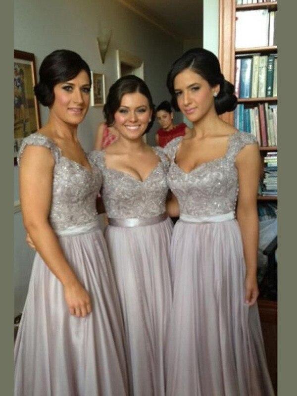 Robe élégante de festa longo cardigan longues en mousseline de soie robes de bal 2019 dentelle Applique livraison gratuite robes de gala robe de bal