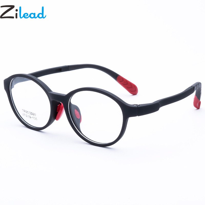 Zilead Children TR90 Round Glasses Frame Kids Anti-fall Optical Sepectacle Eyeglasses Eyewear For Boys&Girls Unisex