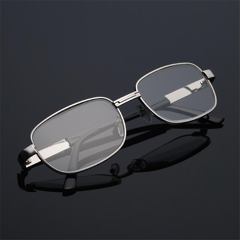 Crystal Glass Reading Glasses Women Men Metal Frame Square Hyperopia Presbyopia Reader Glasses +1.0 +1.5 +2.0 +2.5 To +4.0