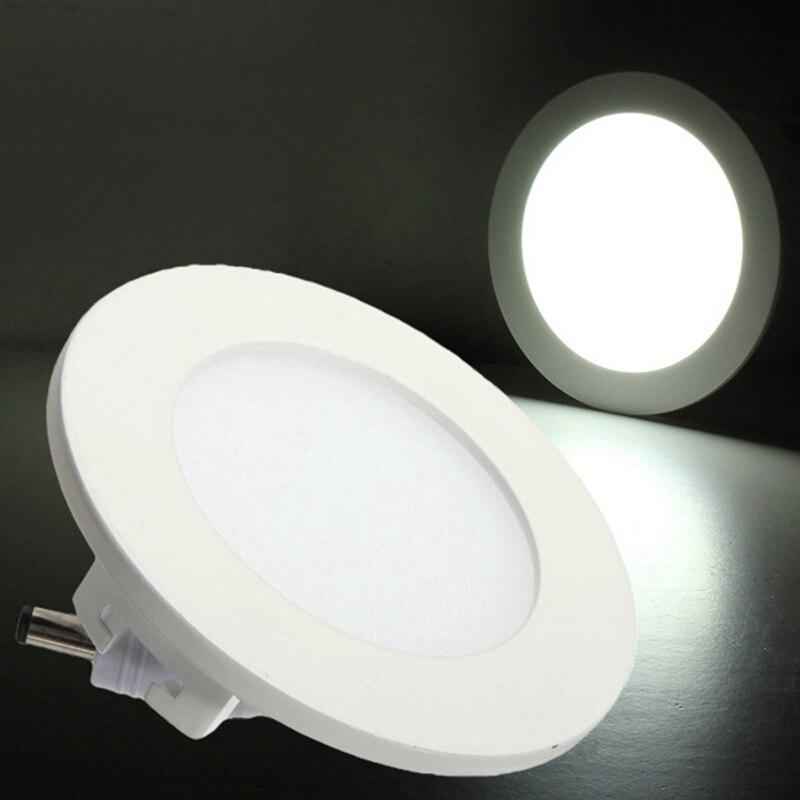 Ультра тонкий дизайн 9 Вт круглый dimmable потолок энергосберегающие встраиваемые сетки светильник/круглой или квадратной панели свет