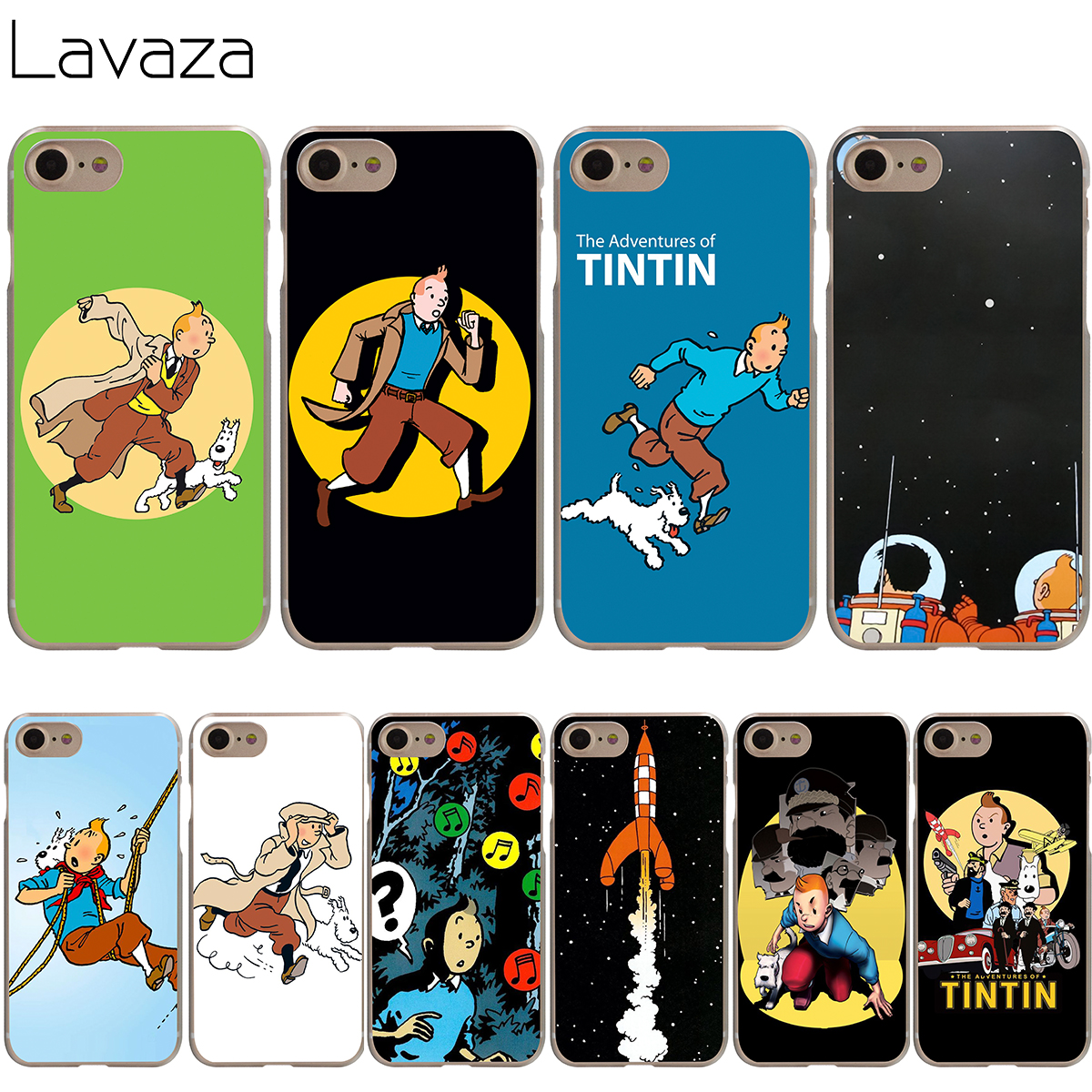 Maiyaca Tintin Ddark Illustration Moon Dog Cute Phone Accessories Case For Apple Iphone 8 7 6 6s Plus X 5 5s Se Xs Xr Xs Max Fine Quality Half-wrapped Case