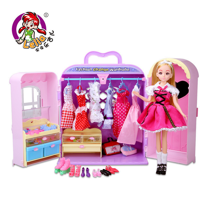 Genuine Lelia fashion dolls Dress Clothes doll Accessories Sets for girls gifts kawaii cute doll kids pretend play toys