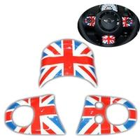 DSYCAR 3pcs/set Car Styling Fashion Steering Wheel Logo Emblems Sticker Cover For BMW Mini Multi-function Buttons Model