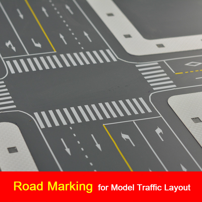 Building Sand Table Model Road Sticke RMaterial PVC Waterproof Adhesive Model Road Pavement Sticker