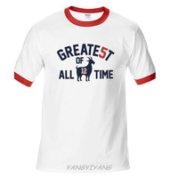 Patriots 5x Champions Tom Brady GOAT Greatest Of Alltime T Shirt Mens Brand Cotton Top Tees