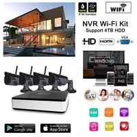Homtrol 4 Channel Wifi 720P Ip Camera NVR CCTV Wireless Camera System 4CH Wifi NVR Kits