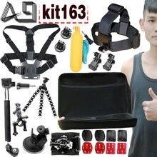 A9 Pour Gopro accessoires set go pro kit montage SJCAM aller pro Xiaomi Yi pour Sony Loi Cam HDR AS200V AS100V AZ1 mini FDR-X1000V/W 4 k
