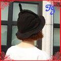 Бесплатная доставка корейский стиль шерстяные с острым магия ведьма Hat косплей Begger шапка шерсть конфеты цвет превысила шлем ведра 7 цвета