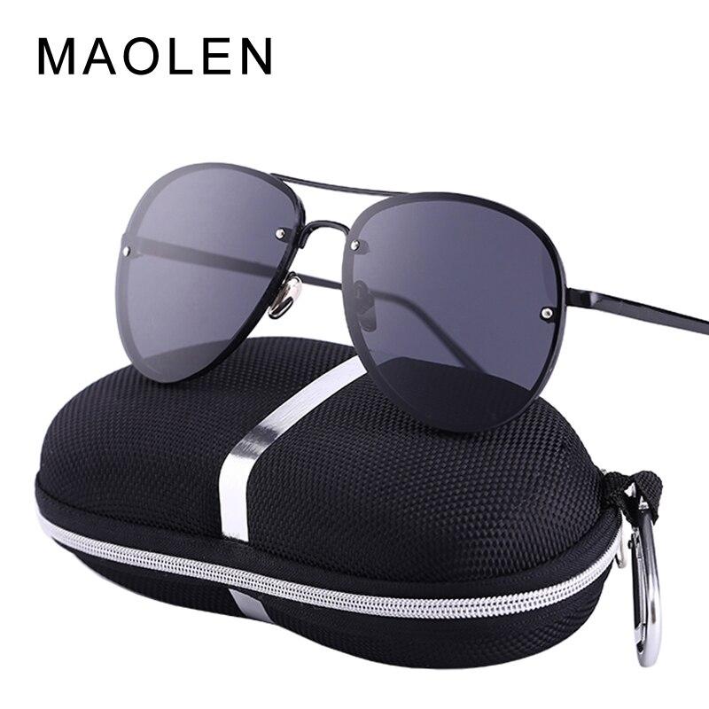 2017 MAOLEN UV400 Pilot Jurte Sonnenbrille Männer Sonnenbrille Marke Logo Design Driving Brille Gafas Brillen
