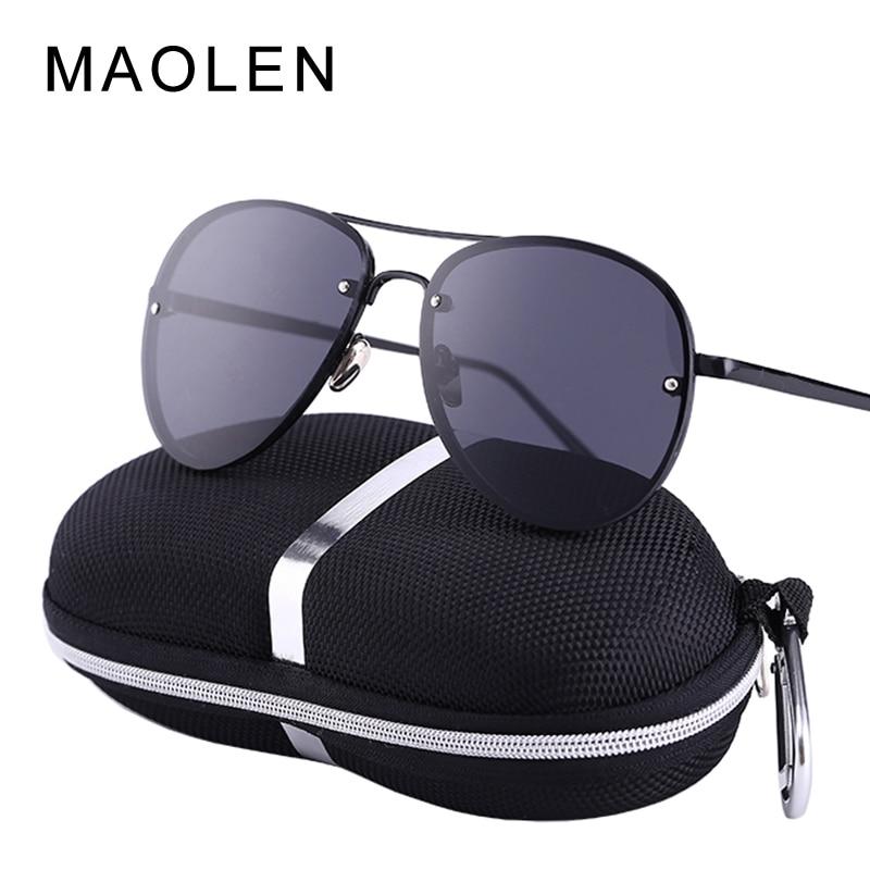 2017 MAOLEN UV400 Pilot Yurt Zonnebril Mannen Zonnebril Merklogo Ontwerp Rijden Bril Goggles Gafas Eyewear