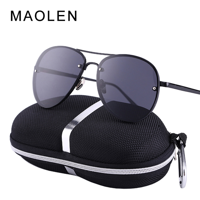 80d00915cc 2017 MAOLEN UV400 Pilot Yurt Sun Glasses Men Sunglasses Brand Logo Design Driving  Glasses Goggles Gafas Eyewear