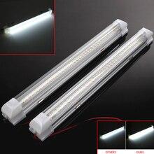 2×12 V 72 светодиодный салона белые полосы света бар лампа для ВАН КАРАВАН на выключатель