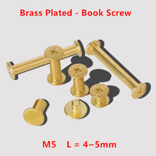 100pcs M5 Book Screws M5*4/5/6/8/10/12/15/20/25/30mm Chicago Screw Account Picture Butt Snap Rivets Blinding Nails