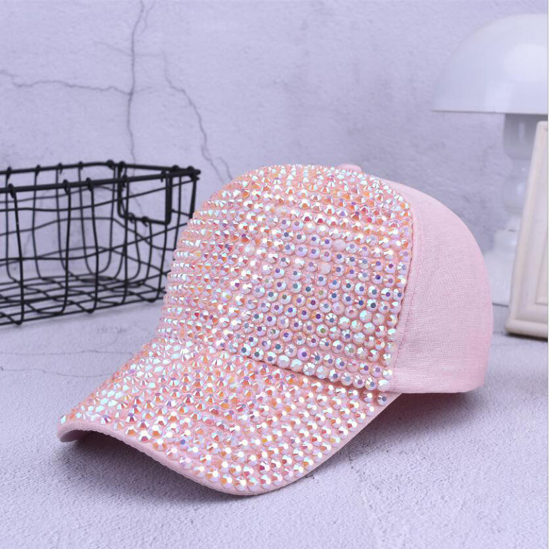 Fashion Women Rhinestone Hats Female   Baseball     Cap   Bling Diamond hat Personality Girl Snapback   Cap   Gorras
