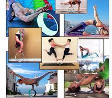 32*13cm Yoga Training Wheels Women and Child Yoga Fitness Equipment