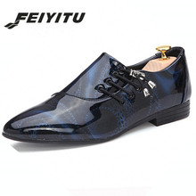 feiyitu Mens Shoes Large Sizes Pointed Toe Men Red Dress Shoe Formal Homme Man Italy Oxford Leather Wedding