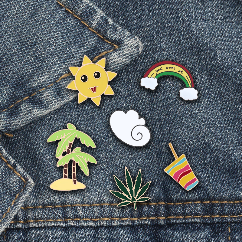Arts,crafts & Sewing 1pc Cheap Cute Little Cat With Sungalsses Brooch Button Pins Denim Jacket Pin Badge Badge Collar Jewelry Gift For Kids Up-To-Date Styling