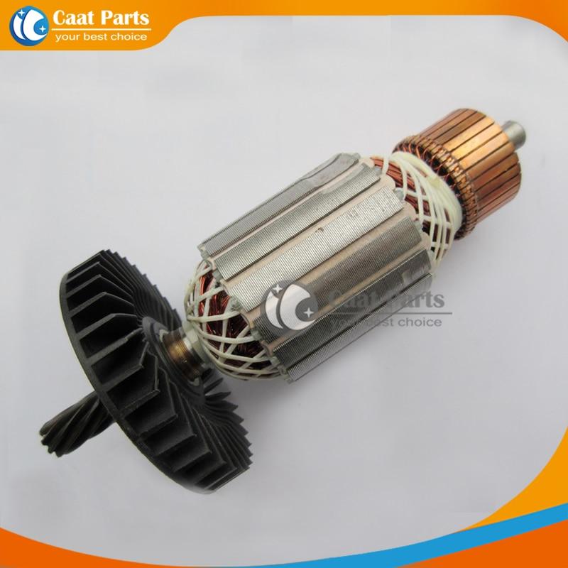 Livraison gratuite! AC 220 v 9-Dents Arbre D'entraînement Électrique machine de découpe Rotor D'induit pour Makita LS1040, Haute Qualité!