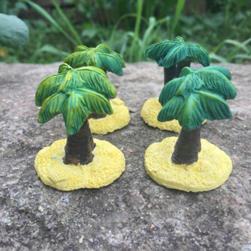 ZOCDOU 1 Pezzo Coco Nucifera Albero di Cocco Pianta Indonesia Malaysia Modello Statue Figurine Artigianato Figura Ornamento Miniature
