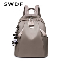 SWDF New Fashion Women Backpack High Quality Leather Backpacks Womens In Casual Daypacks Bags For Teenage Girls