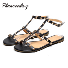 New 2016 Shoes Women Shoes Summer Sandals Leopard Flats Casual Shoes Buckle Beach Floral Sandals For Women Flip Flops