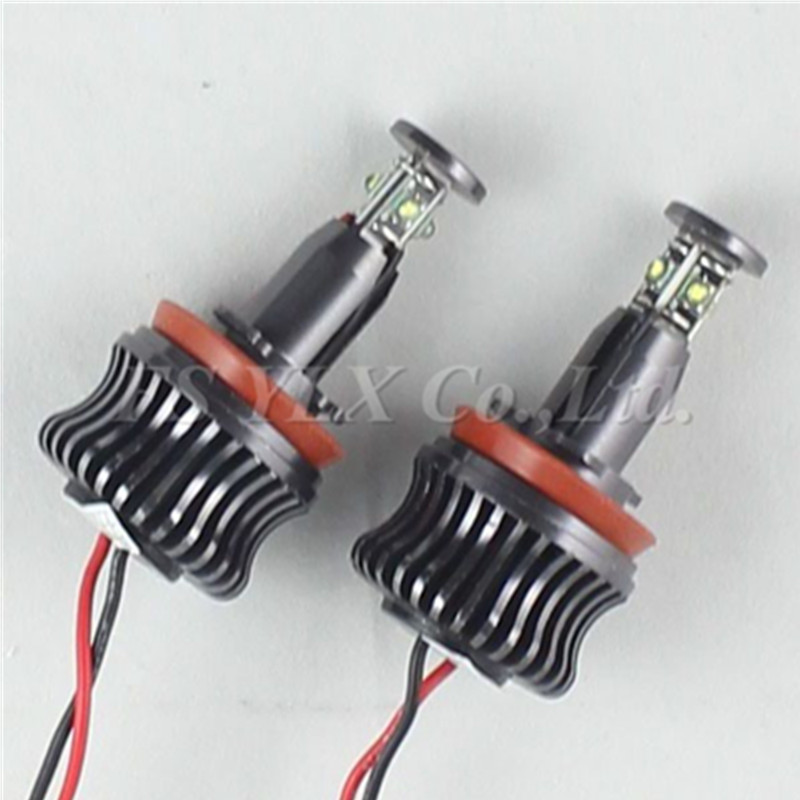ФОТО 4set H8 LED Angel Eyes Light 2*40W H8 LED angel eyes For BMW E60 E61 E63 E64 E70 X5 E71 X6 E82 E87 E89 Z4 E90 E91 E92 M3 E93
