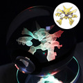 K9 Glass Pokemon GO Pocket Monster Alakazam 3D LED Night Light Desk Table Lamp base 306 degrees Rotate Children like the gift