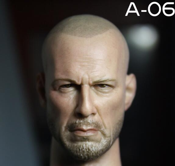 TopToys Store 1/6 scale accessories in action figures head sculpt Male/Man Model toy A-06 Fit 12 Inch Phicen HT toys Body custom 1 6 scale agent girl doll head f001 carving sculpt model for 12 inch ht phicen body action figure
