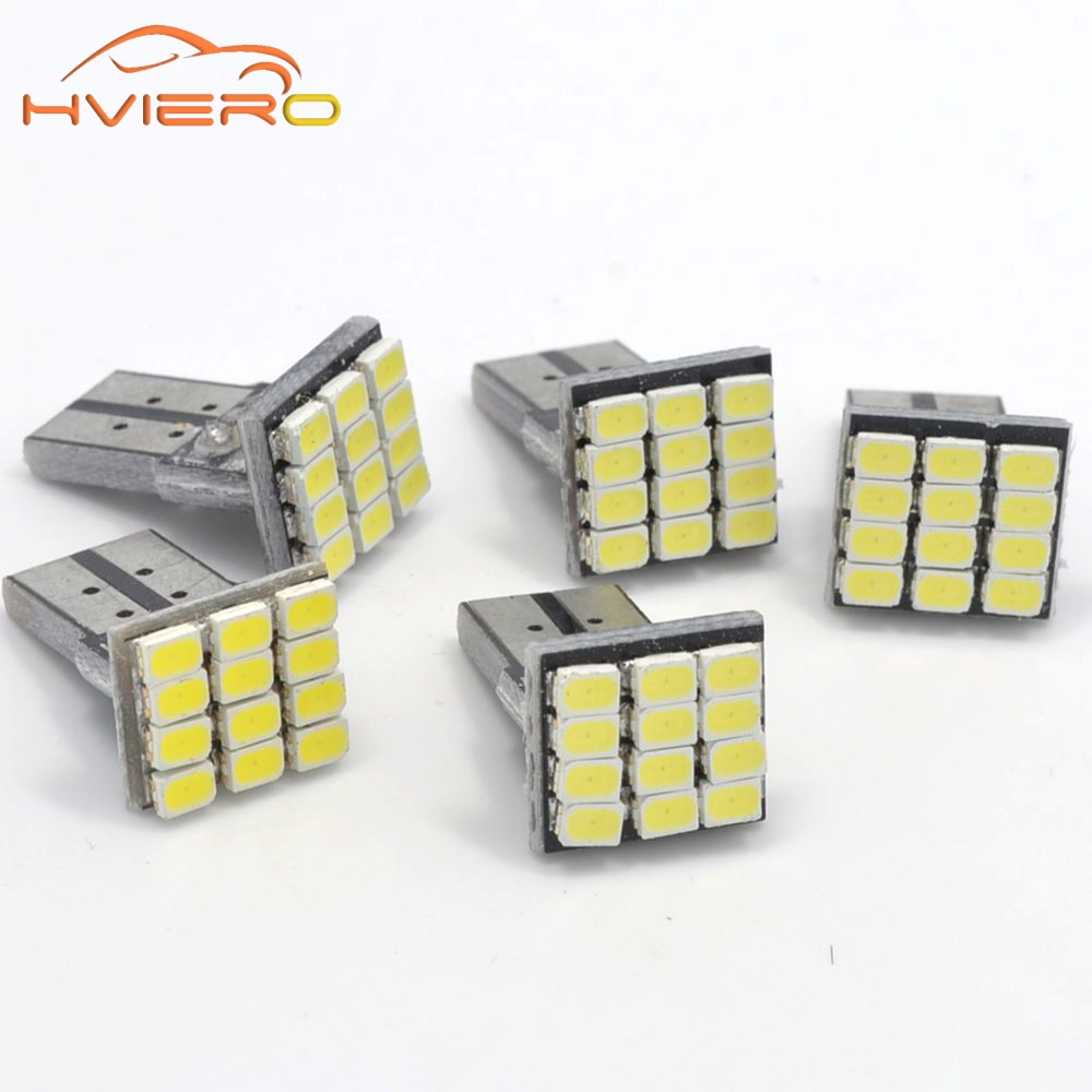 wholesale 10Pcs T10 W5W Canbus White 3020 1206 12SMD Vehicle Tail Dashboard Lamp Car Auto Wedge Turn Signal Bulb 12Led DC 12V