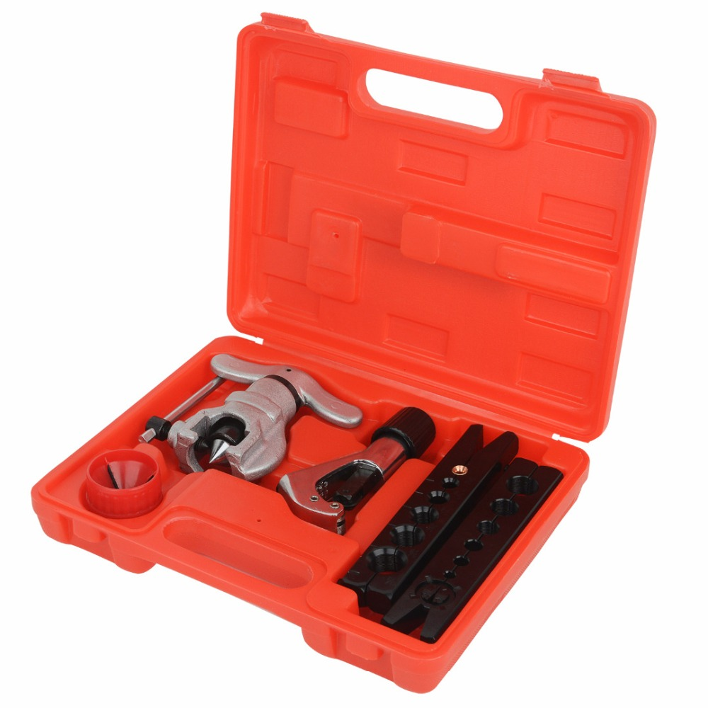 цена на Eccentric Tube Flaring Flare Tool Kit Copper Tube Cutter Power Hand Tool Sets 6-19MM