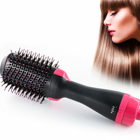 new electric ionic hair dryer brush hair straightener curler combs with detachable comb teeth multifunctional hair styling tools