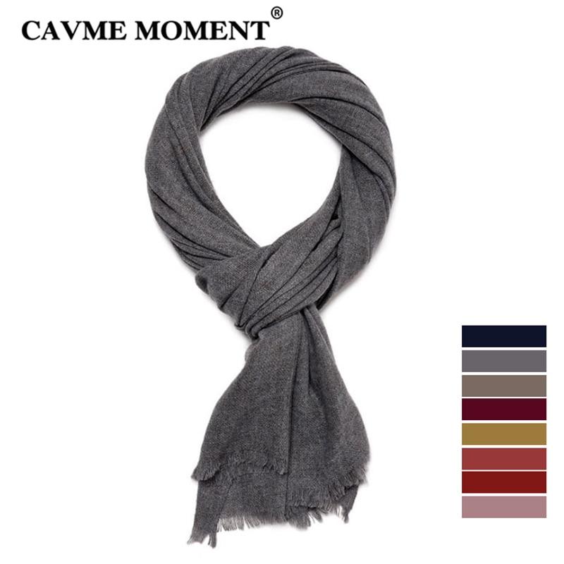 CAVME Yak Cashmere Wool Scarf for Women Men Ladies Winter Luxury Woolen Scarves Warm Solid Basic