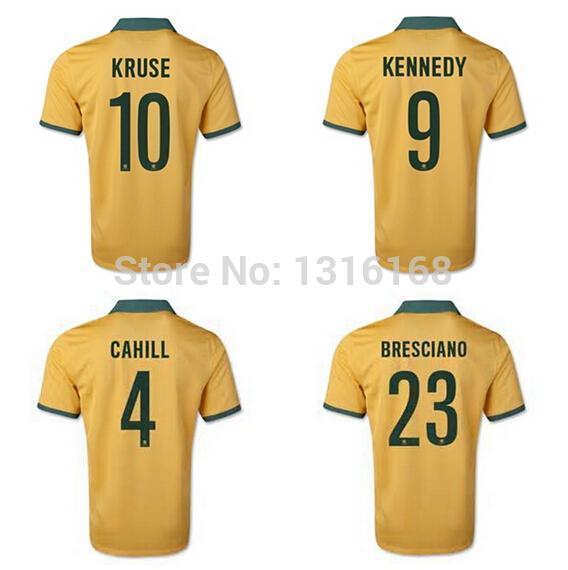 1273602c0b4 15 16 Tim Cahill Australia Jersey FC Football Shirt 10 Robbie Kruse 23  Bresciano 10 Kewell 2 Neill 7 Emerton Soccer Jerseys