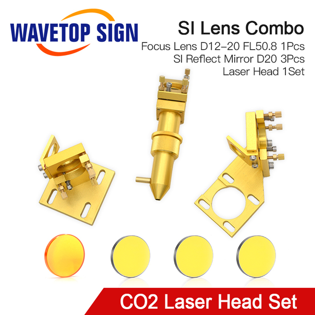 WaveTopSign CO2 לייזר ראש סט עבור 2030 4060 K40 לייזר חריטת מכונת חיתוך