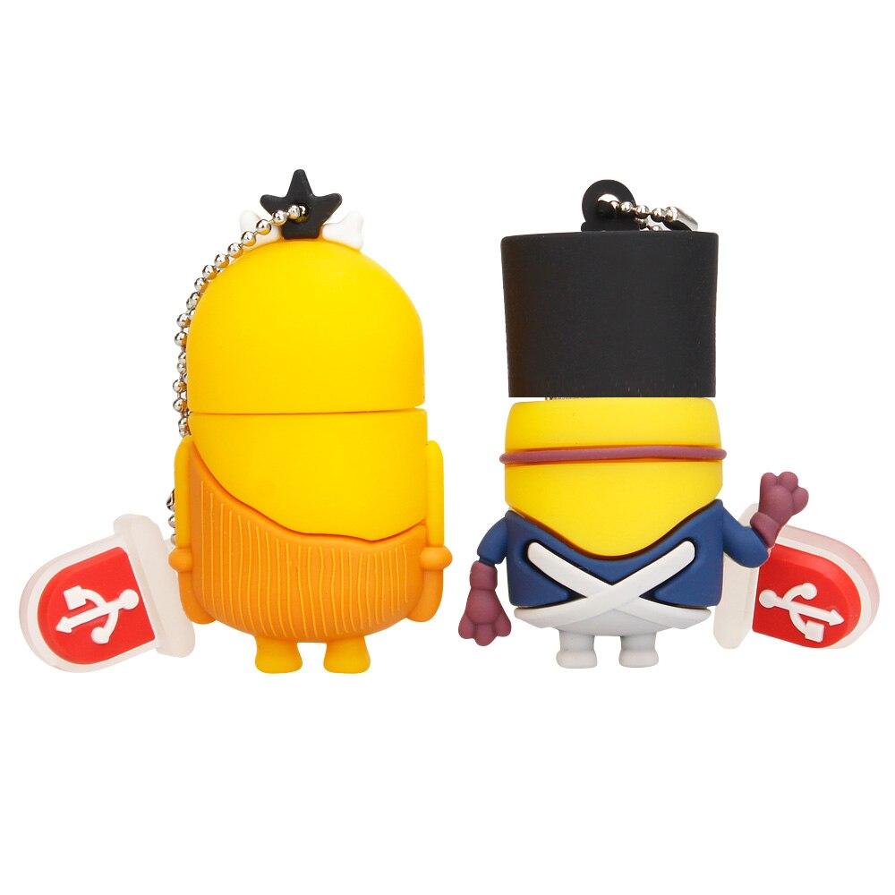 Popular Usb Stick Cartoon Various Styles Little Yellow Man Usb Flash Drive 128GB 64GB 32GB 16GB Pen Drive 8GB 4GB Pendrive Gift (4)