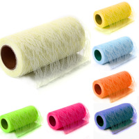 22yards 15cm Colorful DIY Tulle Roll Spool Lace Roll Wedding Decoration Netting Fabric Chair Sashes Table