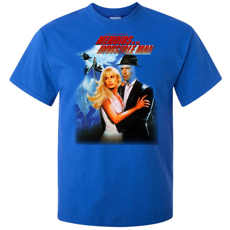 Chevy Chase, Memoirs Of An Invisible Man 1992 V1 T shirt BLUE Tops Male T shirt Men