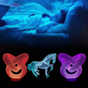 Image 5 - 10pcs/lot USB Cable Touch Lamp Bases For 3D LED Night Light Replacement 7 Color Light Base Table Decor Holder Porta Lampada