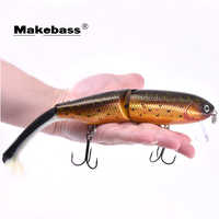 Makebass 1,59 pulgadas/oz Wobbler multiarticulado Señuelos de Pesca Crankbait Minnow cebo duro Pesca carnada para pescadores profesionales