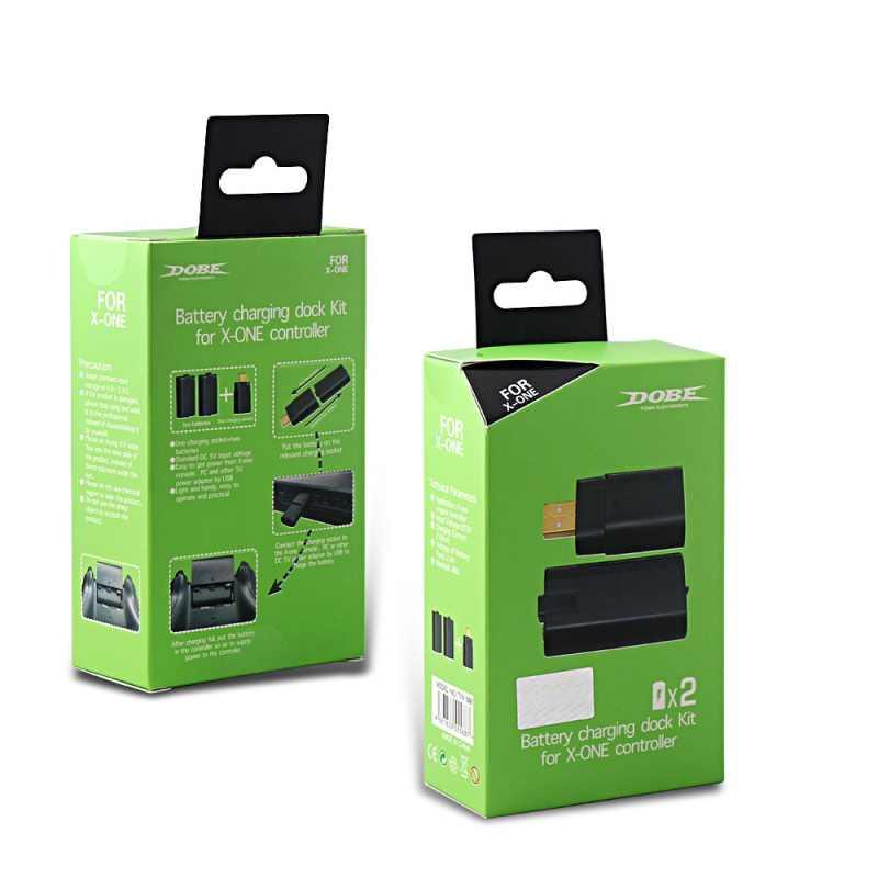 كبل شحن عدة وحدة تحكم لاسلكية تلعب بطارية حزمة تهمة + حزمة بطارية قابلة للشحن ل XBOX ONE