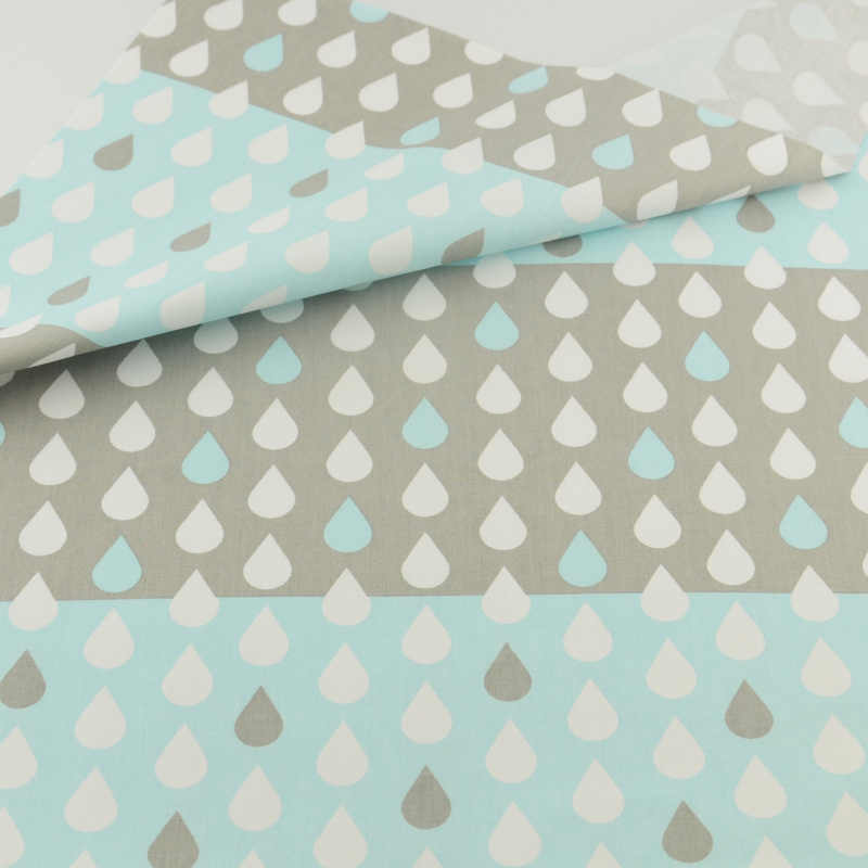 Water Drop Cotton Fabric Patchwork Sewing Cloth Craft Teramila Fabrics Tecido Quilting Bedding Decoration Tissue Home Textile