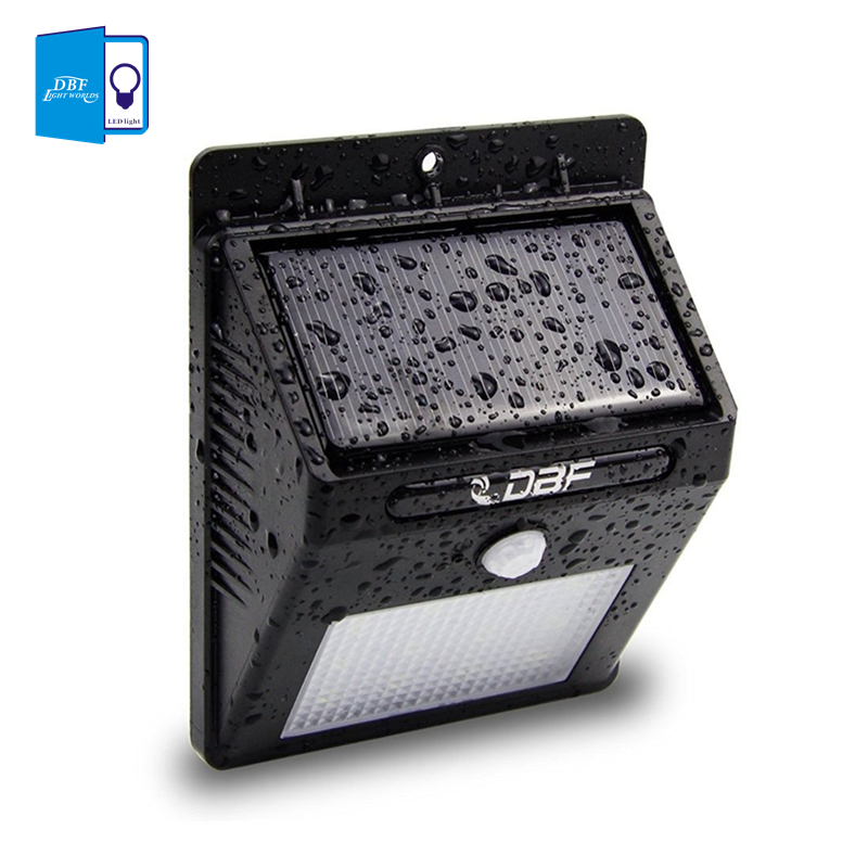 ФОТО [DBF]2pcs/lot Waterproof 12 LEDs Solar Powered Wireless PIR Motion Sensor Solar Light Outdoor Garden Lamp Security Wall Lights